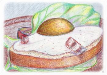 2007-06-05 Zeichnung Spiegelei