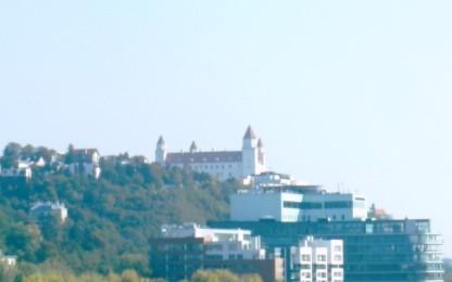 Bratislava aus dem Autofenster
