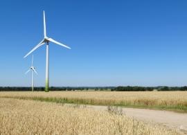 Windkraft - den Windrädern weiter hinten war ich am Vortag näher gewesen.