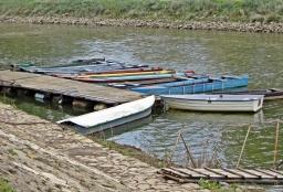 Boote auf der Mündung der Raab / Rába