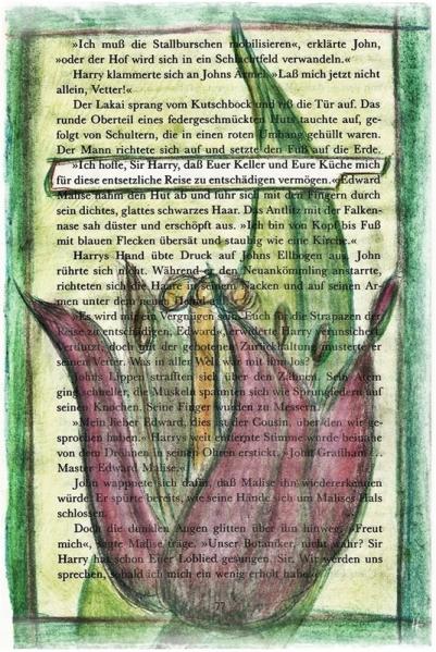 """""""Ich hoffe, Sir Harry, daß Euer Keller und Eure Küche mich für diese entsetzliche Reise zu entschädigen vermögen"""". (Bücherberg 7/77/2)   Veröffentlicht am 2013/11/27 von puzzleblume"""