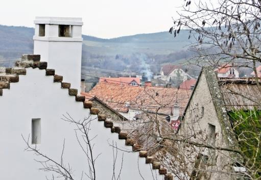 2014-02-23 Ausflug zum Balaton CIMG1920 Tihany Haus+Reetdach+Landschaft