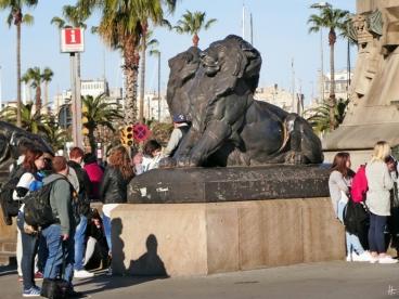 2015-04-09 Barcelona IMG_1863 Plaça del Portal de la Pau Löwen