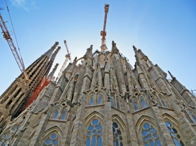 2015-04-10 Barcelona IMG_2079 La Sagrada Familia Baustelle