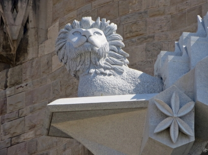 2015-04-10 Barcelona IMG_2093 La Sagrada Familia Baustelle Jesus Nazarenu Löwe
