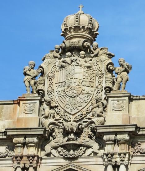 2015-04-11 Barcelona IMG_2233 10h58 Plaça d'Antonio López &Hauptpost-Wappen