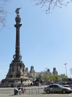 Columbus-Säule auf der Plaça del Portal de la Pau