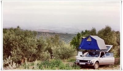 Urlaub 1983-06 Dachzelt b. Torreperogil / Jaén (Spanien)