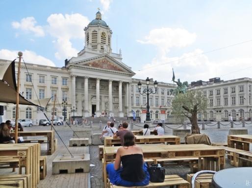 2015-08-21 Reisetag_1_6 Brüssel Place Royale (12) Stadtfest+Gerichtshof+Kirche St.Jakob auf dem Koudenberg