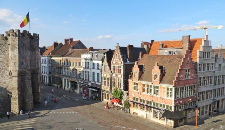2015-08-21 BELGIEN 3_Gent (13) Fensterblick Sint Veerleplein-Rekelingstraat-Geldmunt-Kraanlei
