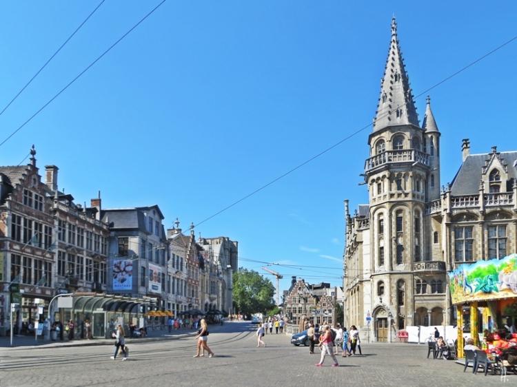 2015-08-22 2_Gent_10 Historischer Stadtkern (13) Korenmarkt+Sint-Michielshelling