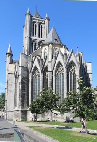 2015-08-22 2_Gent_10_3 zw StNiklaaskerk+StBaafs (4) Sint-Niklaaskerk