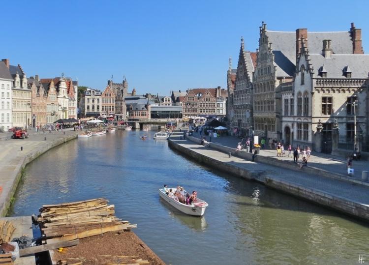 2015-08-22 2_Gent_7 Sint-Michieelsbrug (10) Leie+Korenlei+Graslei+Grasbrug+Gravensteen