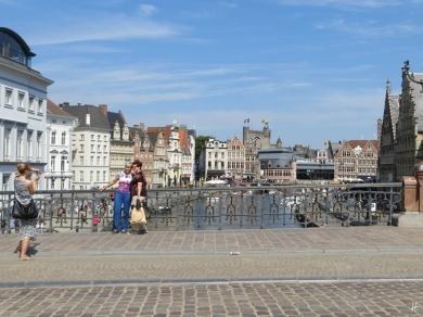 2015-08-23 3_Gent_14 Sint-Michielsbrug (11) Korenlei+Graslei+Gravensteen