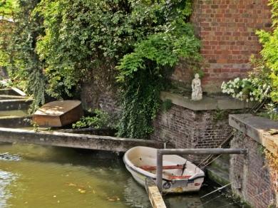 2015-08-23 3_Gent_6 Brabantdam (2) Bootsidylle an der Muinkschelde