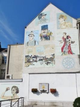 2015-08-23 3_Gent_6 Brabantdam (4) Gedenk-Hausmalerei+Gefallenendenkmal