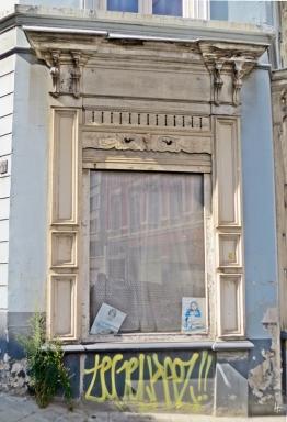 2015-08-23 3_Gent_8 Kunstkwartier Bagattenstraat (2) Eckhausfenster Wilhelm-Tellstraat