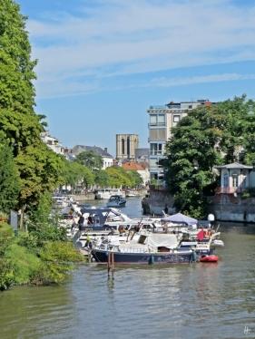2015-08-23 3_Gent_9 Verlorenkoststraat&-brug (7) Leie+Lindenlei+Sint-Michielskerk