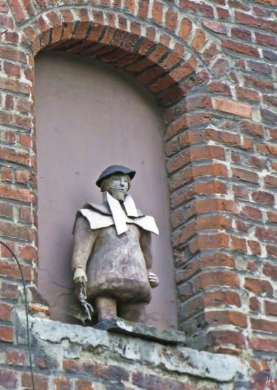 2015-08-24 Reisetag_4 Gent (8) Flötenspielerhaus-FliegenerHirsch-Seite Corduwaniersstraat