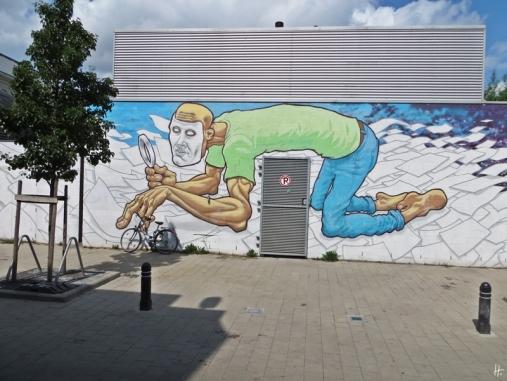 2015-08-25 5_Gent_5 vom Kunstmuseum bis zum Kramersplein (6) Voetweg Street Art von 'A squid called Sebastian'