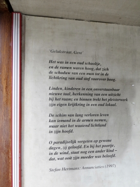 2015-08-25 5_Gent_7 Sint-Pietersnieuwstraat (5) Wand-Gedicht v Stefan Hertmans