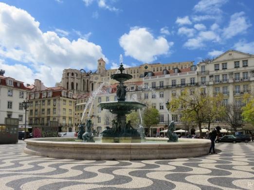 2016-03-30 Lissabon (Portugal) Tag 2-18 (13) Rossio bzw Praça Dom Pedro IV+Convento do Carmo