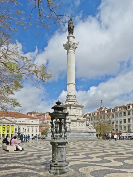 2016-03-30 Lissabon (Portugal) Tag 2-18 (18) Praça Dom Pedro IV +Säule+Theater