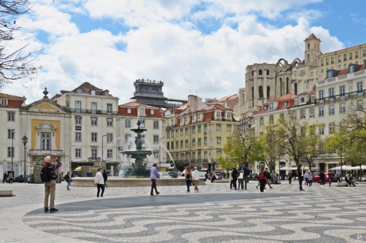 2016-03-30 Lissabon (Portugal) Tag 2-18 (6) Rossio bzw Praça Dom Pedro IV+Elevador de Santa Justa+Convento do Carmo