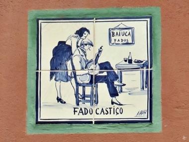 2016-04-02 Lissabon (Portugal) Tag 5-2 Alfama (18C) Largo de São Miguel Fado-Fliesenschmuck A Baíuca Fado