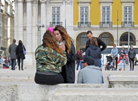 2016-04-02 Lissabon (Portugal) Tag 5-4 Praça do Comércio (10) Menschen