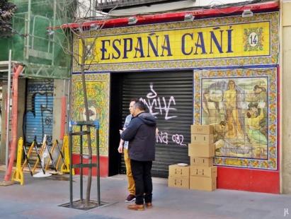 Der Fliesenspiegel des 'España Cañi' stammt aus der Azulejería de Talavera