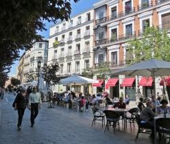 Plaza del Angel - ungefähr beim Café Central