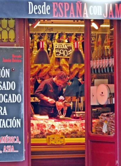 2017-04-11_8 MADRID-Urlaub (100) Calle Mayor 80, Jamoneria (Mercado Jamón Ibérico)