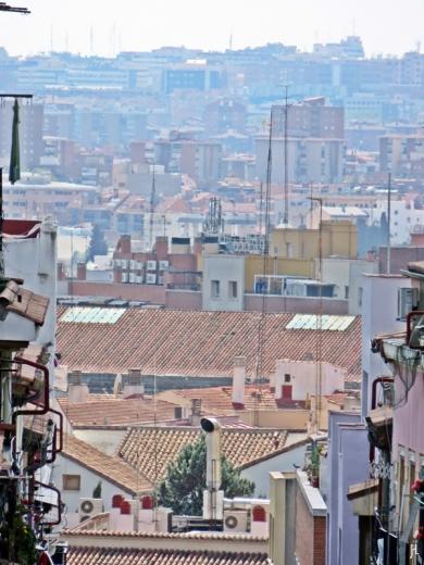Durch die Calle de Zurita gezoomt bis zum Barrio Las Acacias