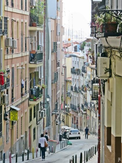 Einmal die Calle de Buenavista weit hinunter gesehen ...