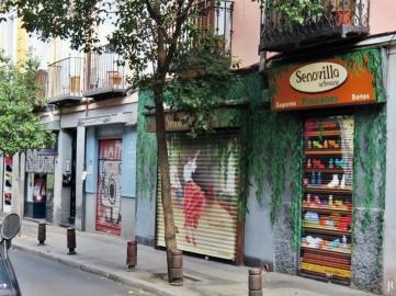 2017-04-12_10 MADRID-Urlaub (226) Atocha -Calle Duque de Fernán Núñez- Graffiti-Ladenfenster-Fensterladen