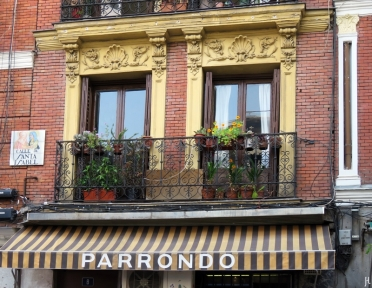 Fenster der Calle de Santa Isabel No. 8