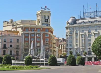 2017-04-12_7 MADRID-Urlaub (129) Plaza Cánovas del Castillo - Fuente de Neptuno