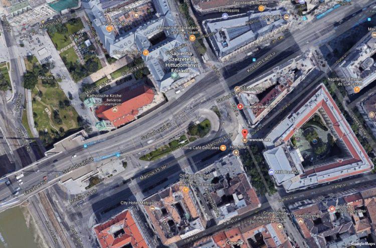 Budapest, Március tér – Váci utca – Ferenciek tere