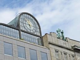 2017-07-15 Prag_12 Wenzelsplatz bzw. Am Graben (4) Haus 388/1 , Gebäude CKD + 390/3, Palast des Wiener Bankvereins