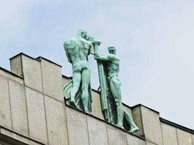 2017-07-15 Prag_12 Wenzelsplatz (5) Am Graben Haus 388/1 , Gebäude CKD + 390/3, Palast des Wiener Bankvereins