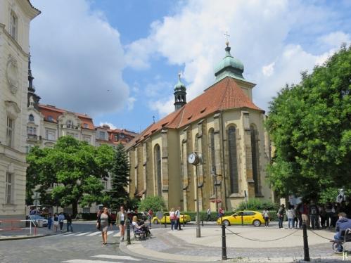 2017-07-15 Prag_15 zurück durch die Altstadt (20 )Siroka - Heilig-Geist-Kirche
