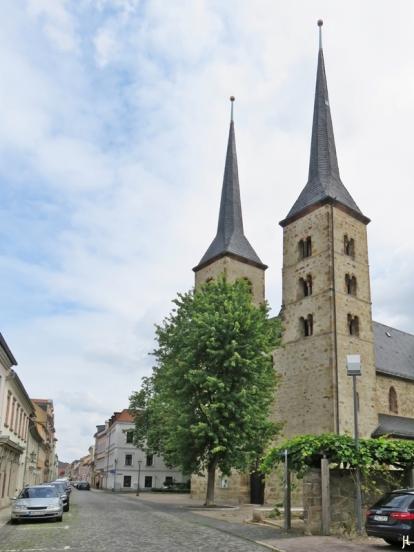 2017-07-16 Grimma (13) Lange Strasse - Frauenkirchhof mit Frauenkirche