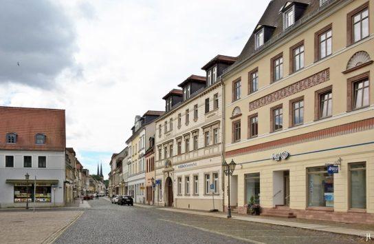 2017-07-16 Grimma (41) Markt, Lange Strasse, Frauenkirche