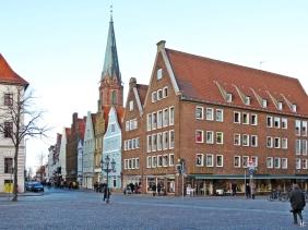 Lüneburg, Bardowicker Strasse + St. Nikolai-Kirche