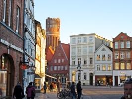 Lüneburg, Am Sande + Wasserturm