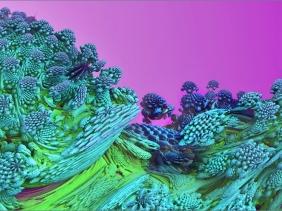 2018-12-09 Mandelbulb 3D - Hüpflinge bzw Planet der Knilche