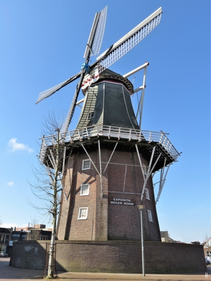2019-04-09 NL Delfzijl (3) Molenberg, Mühle 'Adam'
