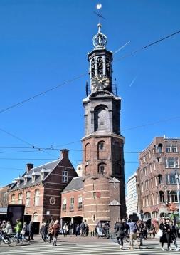 2019-04-10 NL Amsterdam Munttoren am Muntplein