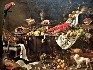 2019-04-11 NL Amsterdam Rijksmuseum Säle (24) Prunkstilleben v. Adriaen van Utrecht, 1644